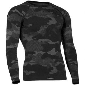 Tervel Optiline Tactical Langærmet Skjorte - Sort/Grå