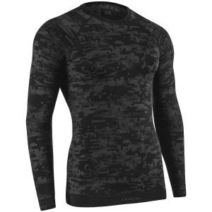 Tervel Optiline Digital Langærmet Skjorte - Sort/Grå