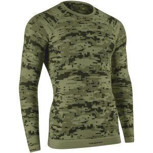Tervel Optiline Digital Langærmet Skjorte - Military/Grå