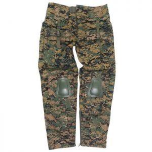 Mil-Tec Warrior Bukser med Knæpuder - Digital Woodland