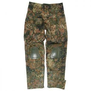 Mil-Tec Warrior Bukser med Knæpuder - Flecktarn